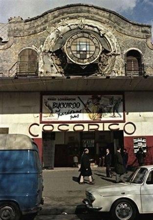 Cinéma -Cocorico au metro Belleville à côté de la Vielleuse-CP Josette Farigoul.jpg